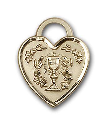 14K Gold Communion Heart Pendant - Engravable