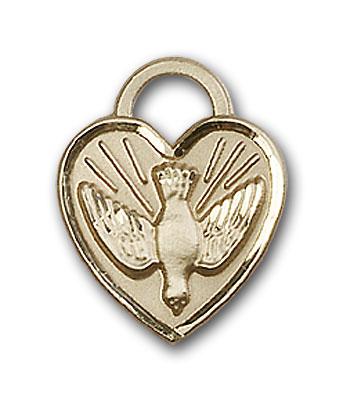14K Gold Confirmation Heart Pendant - Engravable