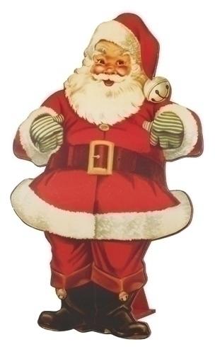 29.75-inch Flat Print Santa Fig