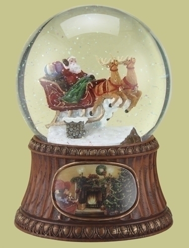 Mus7-inch 120Mm Santa On House Dome