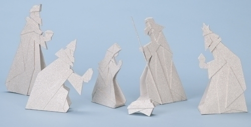 6Pc St 10-inch Nativity Origami