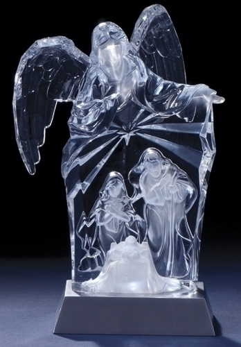 9-inch LED Angel Over Holy Fam Fig