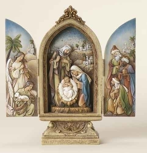 9-inch Triptych With Kings &Angel