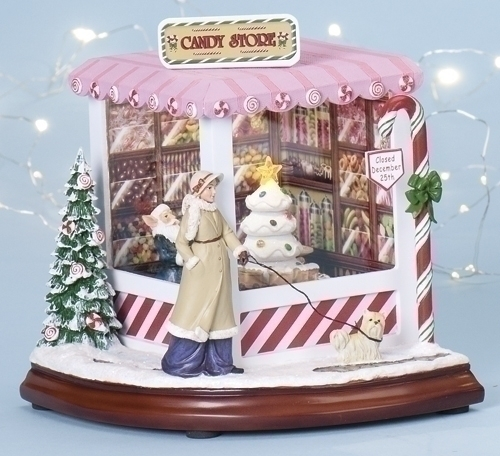 Musical 8-inch Christmas Candy Shop With Light