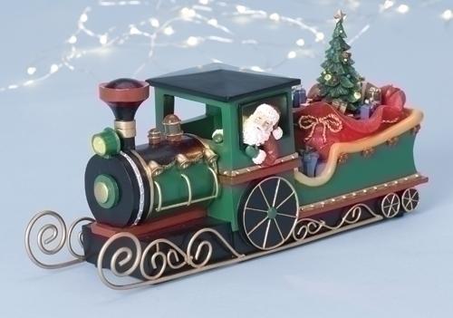 11-inch L Santa Sleigh Train
