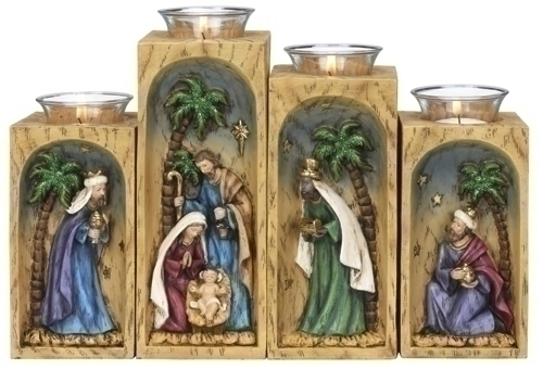 4Pc St 8-inch Votive Holdr With Glass