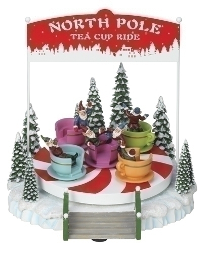 Musical 8-inch North Pole Ride Fig