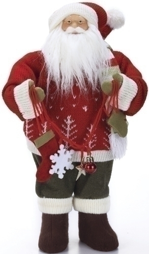 16-inch Santa With Red Sweater Fig
