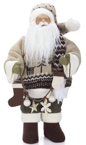 16-inch Santa With Tan Sweater Fig