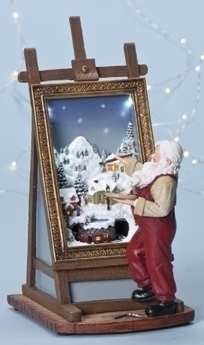 11-inch Musical LED Santa Painting Fig
