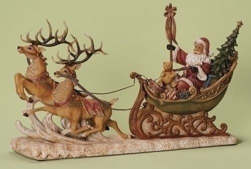 24-inch L Santa In Sleigh Fig