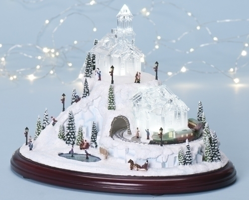 Musical 8-inch LED Village With Revolvg