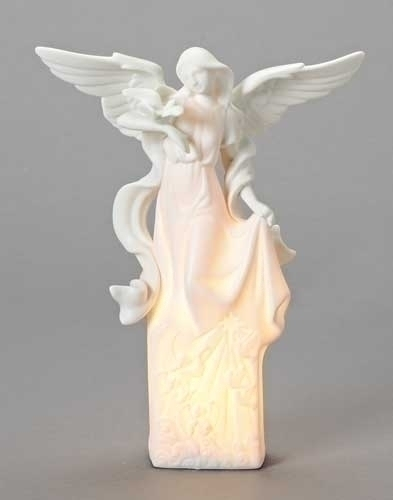 12-inch Lighted Angel With Dove Fig