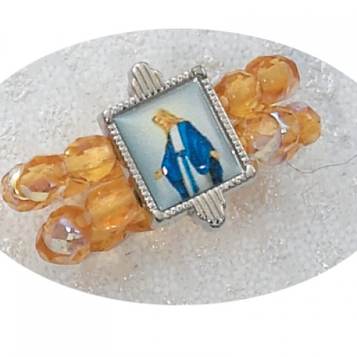 Topaz Stretch Ring with Mirac