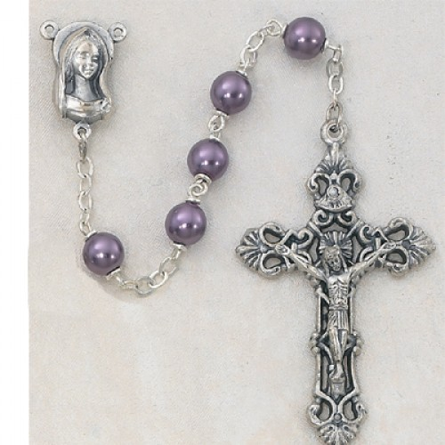 7MM Amethyst Pearl Rosary
