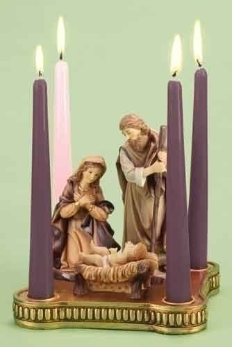 8-inch W Advent With Holy Family
