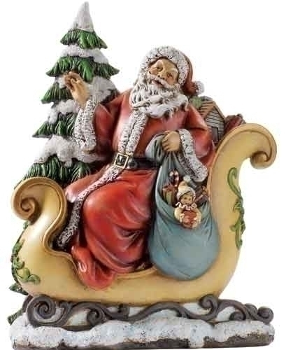 10.5-inch Santa/Sleigh Wafer Fig