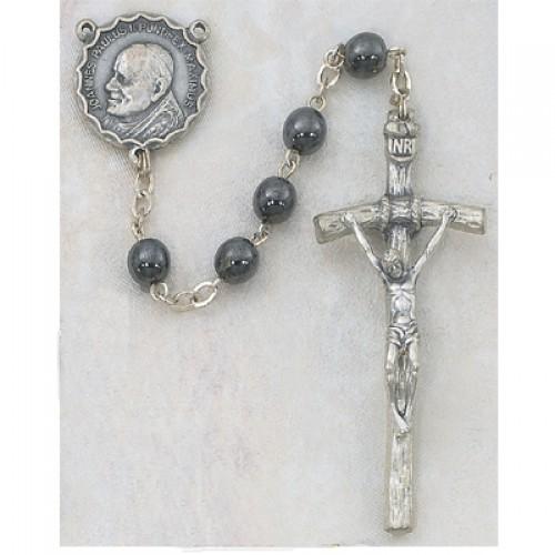 6MM Hematite Papal Rosary