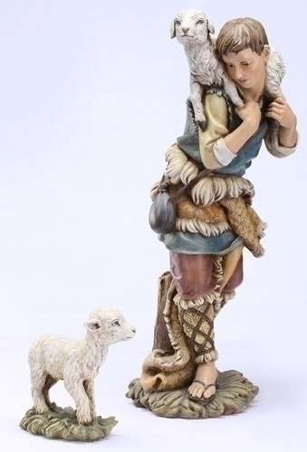 27-inch Scale Color Shepherd/Lamb
