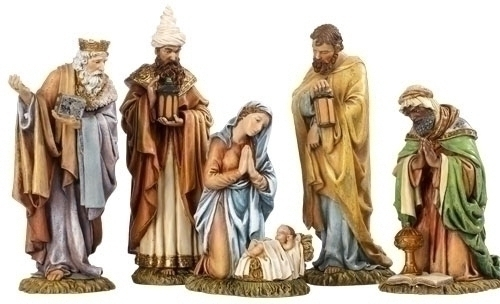 5Pc St 8.25-inch Nativity Figure
