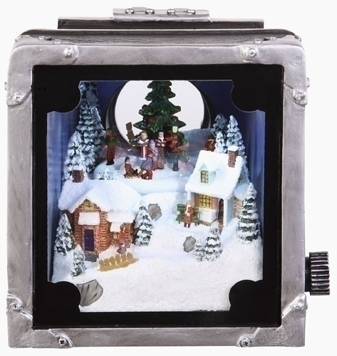 5-inch Musical Camera With Carolers Lited
