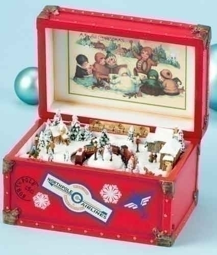 Musical 3.5-inch Trunk With Train Revolv