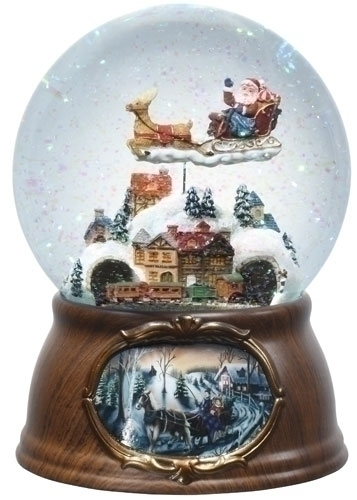 7-inch 120Mm Musical Santa/Train Dome