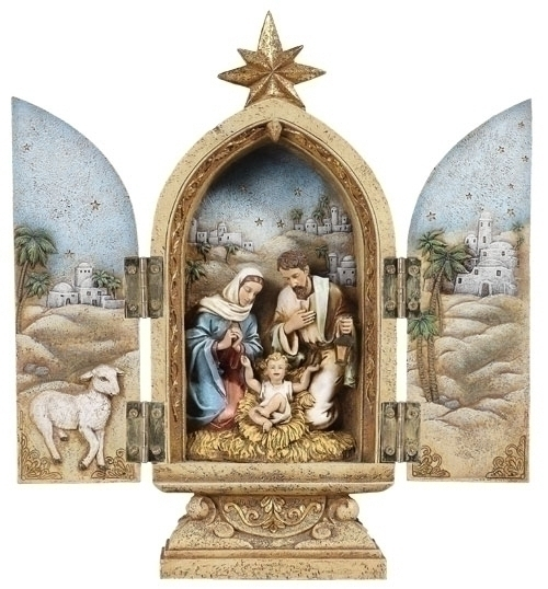 10-inch H Holy Family Triptych Fig