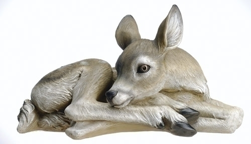 16.75-inch W Sleeping Deer Fig