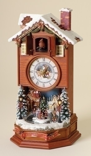 15.5-inch Lighted Cuckoo Clock With Wntr