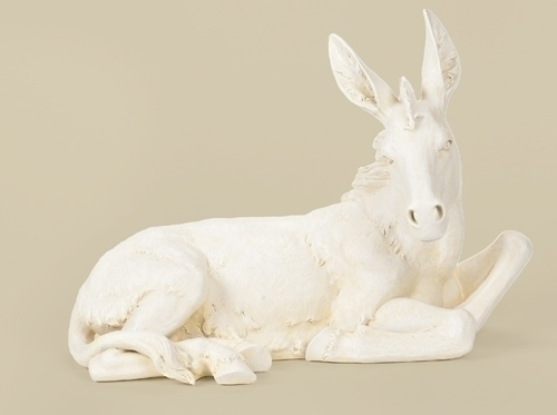 Ivory Donkey For 39-inch Nativity