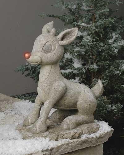 18-inch Solar Rudolph Statuary