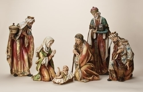 6Pc St 5-inch -29-inch Nativity Fig