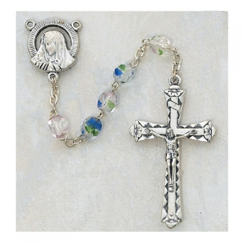 6MM Multicolor Glass Rosary