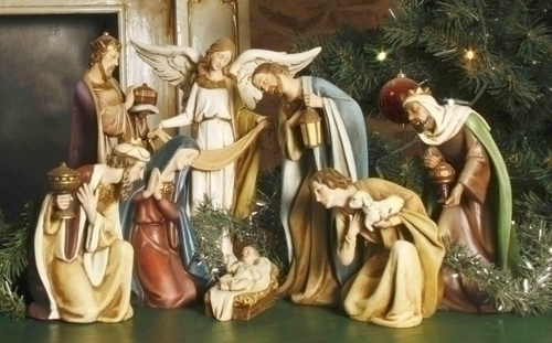 8Pc St 12.5-inch H Royal Nativity