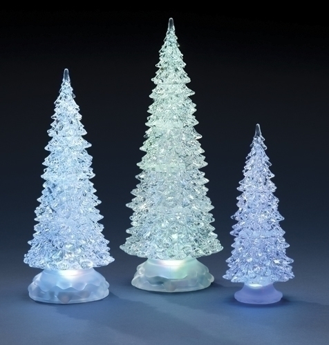 3Pc St 12.5-8.25-inch Lited Trees