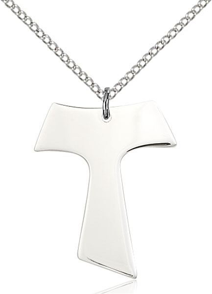Sterling Silver Tau Cross Pendant