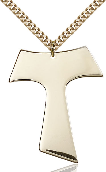 Gold-Filled Tau Cross Pendant
