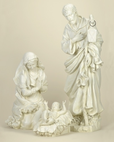 3Pc St 38-inch Holy Family Ivory