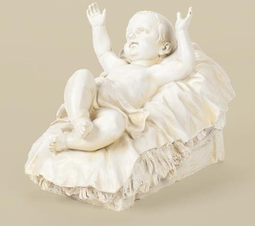 39-inch Scale White Jesus 10.5-inch H