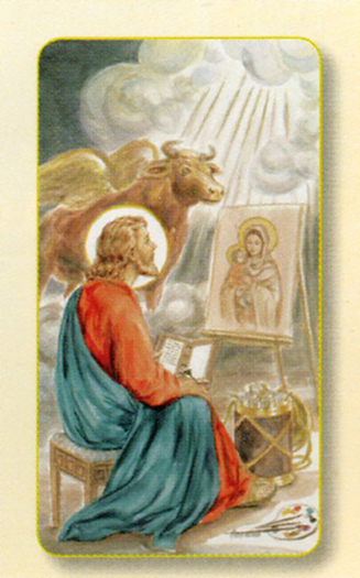 100-Pack - Amm. St Luke Holy Card