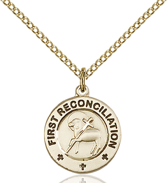 Gold-Filled First Reconciliation / Penance Pendant