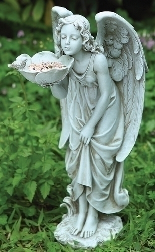 17-inch H Girl Angel Bird Feeder