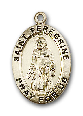 14K Gold Peregrine Pendant - Engravable