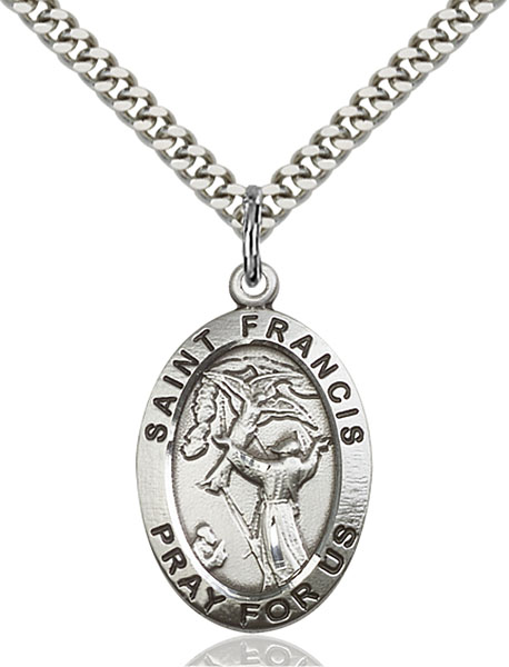 Sterling Silver St. Francis of Assisi Pendant