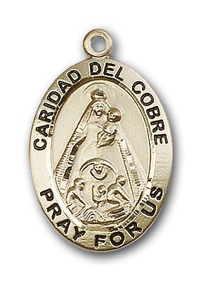 Gold-Filled Caridad Del Cobre Pendant