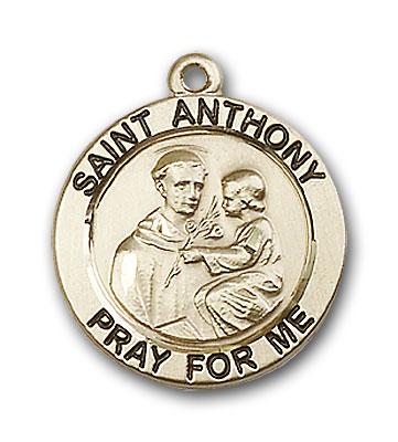 Gold-Filled St. Anthony of Padua Pendant