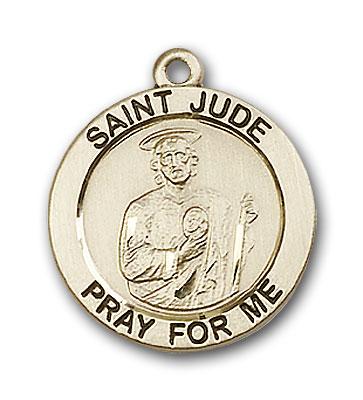 14K Gold St. Jude Pendant - Engravable