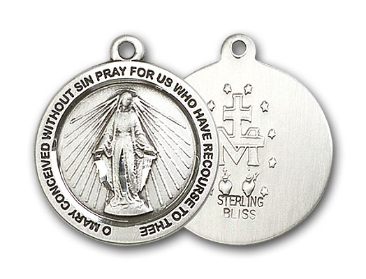 Sterling Silver Miraculous Medal