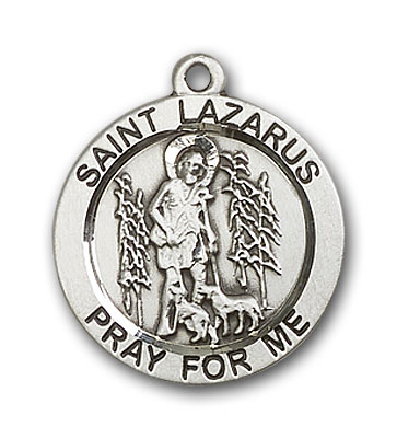 Sterling Silver St. Lazarus Pendant